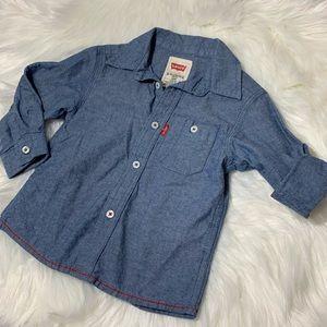 Levi's 12 Months Boy Button Down Shirt